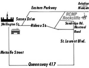 map to Rockcliffe Stables
